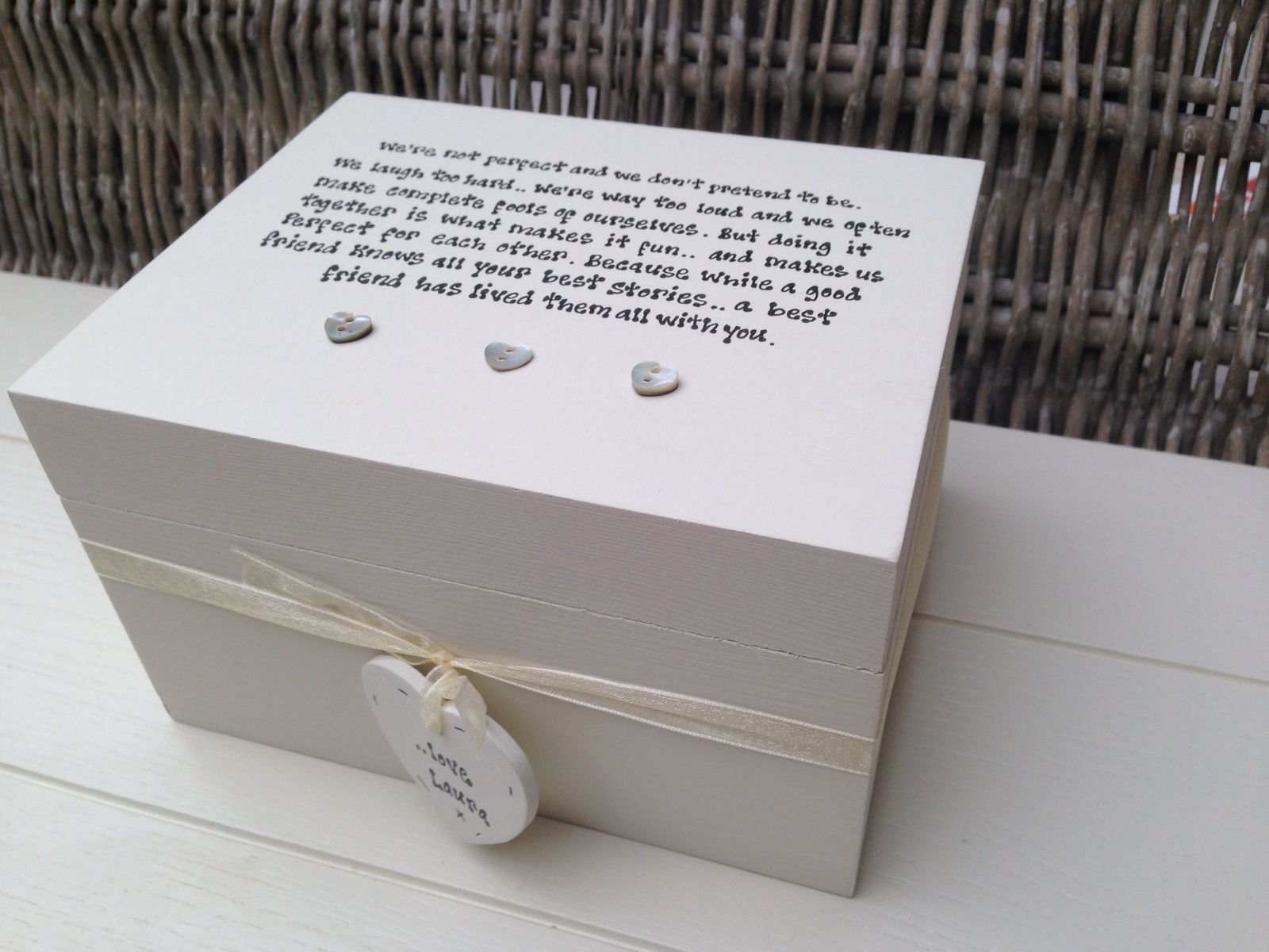 Shabby Personalised Chic Special Best Friend Keepsake Gift Box Birthday